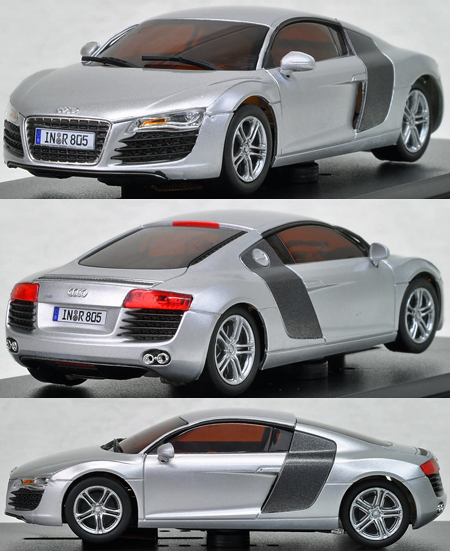 Kyosho 10101 Audi R8 Silver 1/43 Scale (C) [10101]