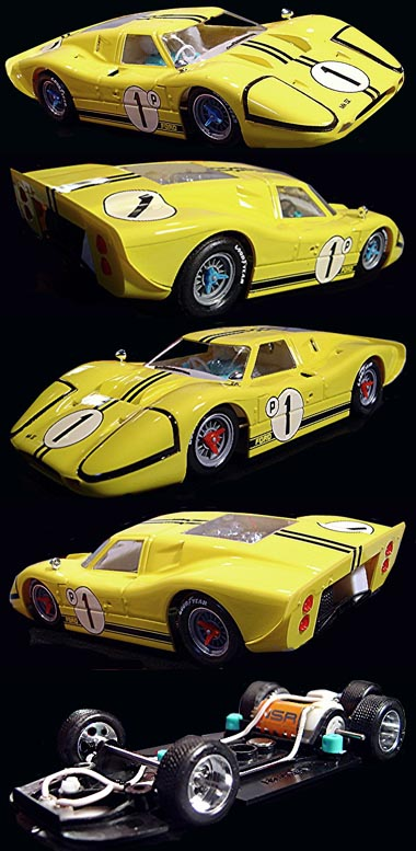 NSR 1021 Ford MkIV, yellow, Sebring 1967
