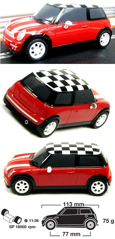 Scalextric C2881 BMW Mini, high impact, red