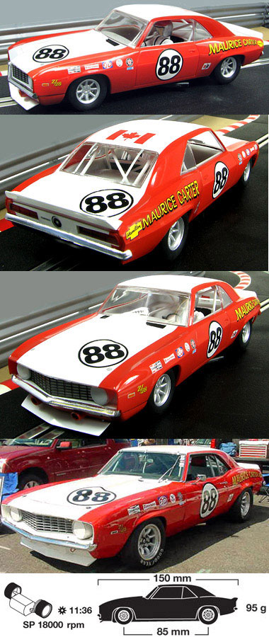 Scalextric C2891 1969 Camaro Maurice Carter Trans Am series