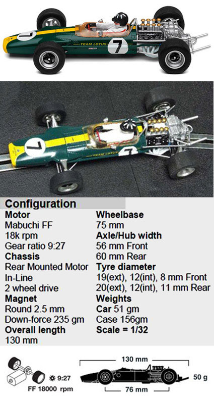 Scalextric C3032 Lotus 49